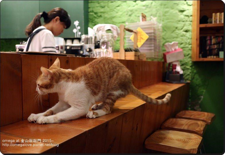 《美食*新北金山區》金山敲敲門。金山老街內超好喝抹茶拿鐵有頑皮小店貓
