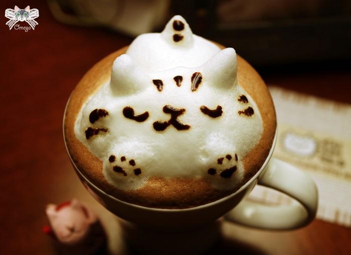 《台北貓咪餐廳》米亞歐。信義區市府站,喝著貓咪立體拉花飲品,享受被喵星人包圍的滋味!