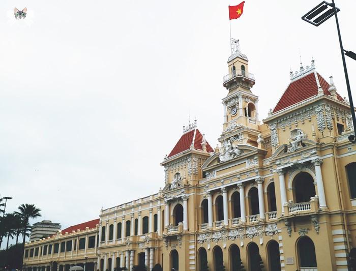 《旅遊*越南胡志明》阮惠街行人廣場、胡志明廣場、胡志明市人民委員會大廳