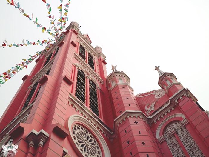 《旅遊*越南胡志明 》粉紅教堂|新定教堂。第三郡景點完全少女心大噴發!