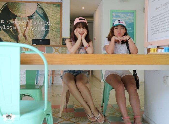 《住宿*越南胡志明 》Liefhotel Saigon。(上)可愛小沙彌,清新花磚風格飯店大廳與早餐