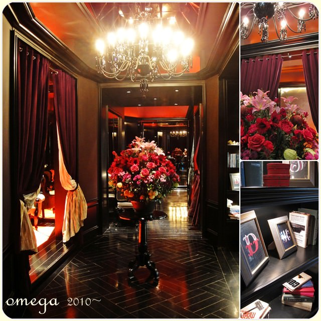 《美食*台北大同區》紅色繽氛。京站一樓的豪華紅色宮廷風