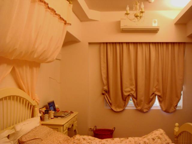 【公主殿】施工進度~主臥的法式波浪簾&床幔